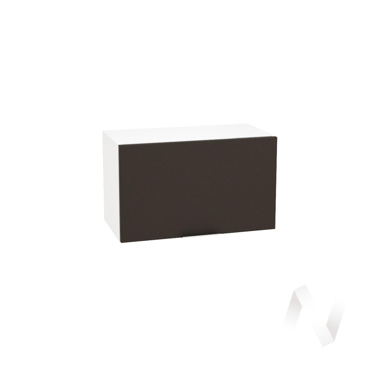 """Кухня """"Терра"""": Шкаф верхний горизонтальный 600, ШВГ 600 (смоки софт/корпус белый)"""