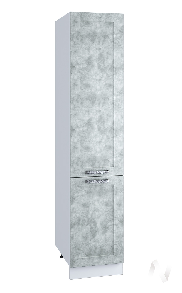 """Кухня """"Лофт"""": Шкаф пенал 400, ШП 400 (Бетон серый/корпус белый)"""