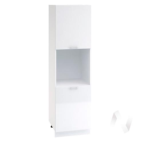 """Кухня """"Валерия-М"""": Шкаф пенал 600, ШП 600 (белый металлик/корпус белый)"""