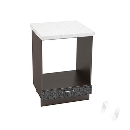 """Кухня """"Валерия-М"""": Шкаф нижний под духовку 600, ШНД 600 (дождь черный/корпус венге)"""