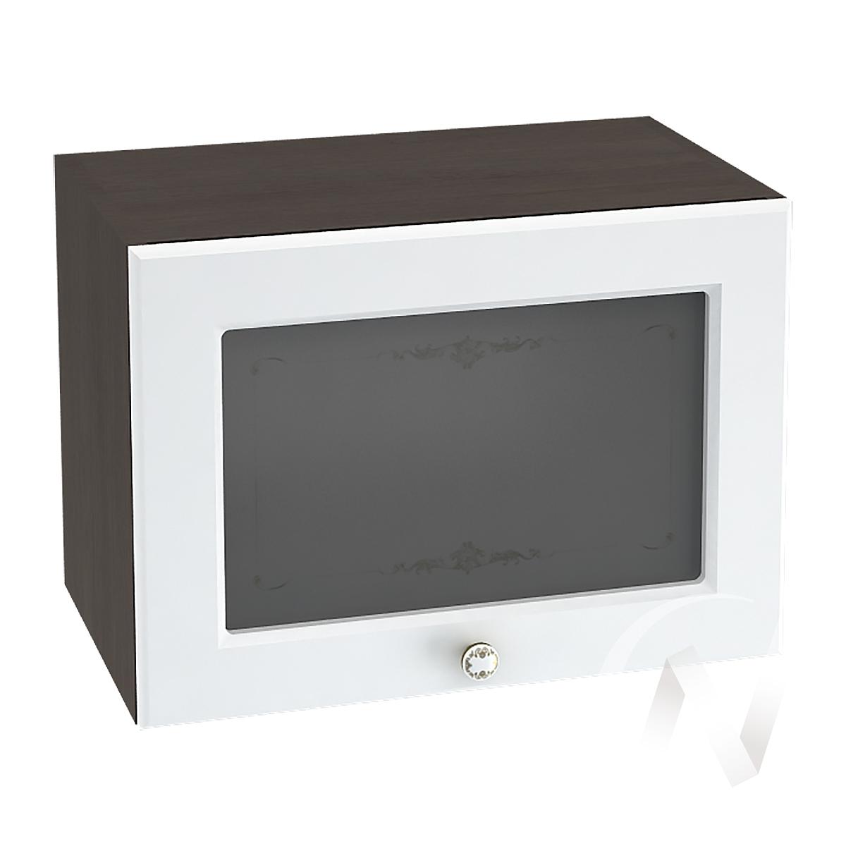 """Кухня """"Шарлиз"""": Шкаф верхний горизонтальный со стеклом 500, ШВГС 500 (корпус венге)"""