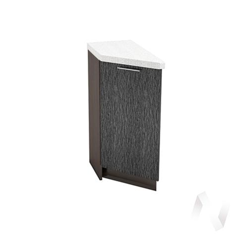 """Кухня """"Валерия-М"""": Шкаф нижний торцевой 300, ШНТ 300 (дождь черный/корпус венге)"""