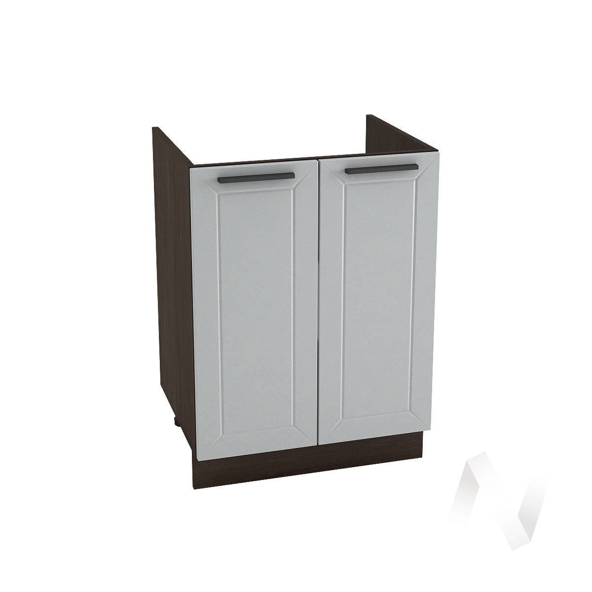 """Кухня """"Глетчер"""": Шкаф нижний под мойку 600, ШНМ 600 (Гейнсборо Силк/корпус венге)"""