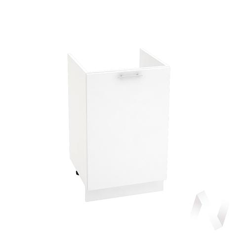 "Кухня ""Валерия-М"": Шкаф нижний под мойку 500, ШНМ 500 (белый глянец/корпус белый)"