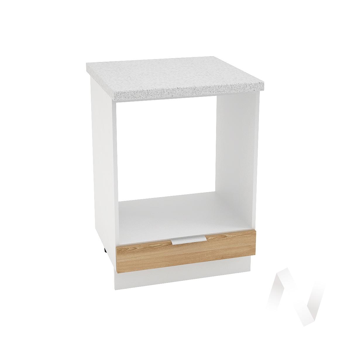 """Кухня """"Терра"""": Шкаф нижний под духовку 600, ШНД 600 (ель карпатская/корпус белый)"""