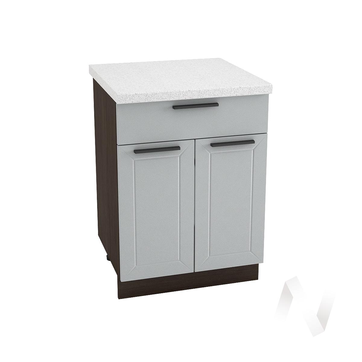 """Кухня """"Глетчер"""": Шкаф нижний с ящиком 600, ШН1Я 600 М (Гейнсборо Силк/корпус венге)"""