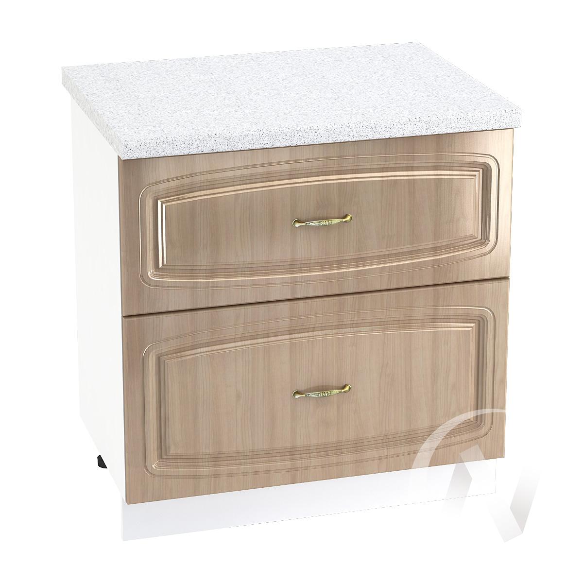 """Кухня """"Сити"""": Шкаф нижний с 2-мя ящиками 800, ШН2Я 800 (корпус белый)"""