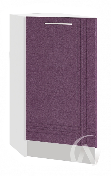 """Кухня """"Струна"""": Шкаф нижний торцевой 300, ШНТ 300 (фиолетовый металлик/корпус белый)"""