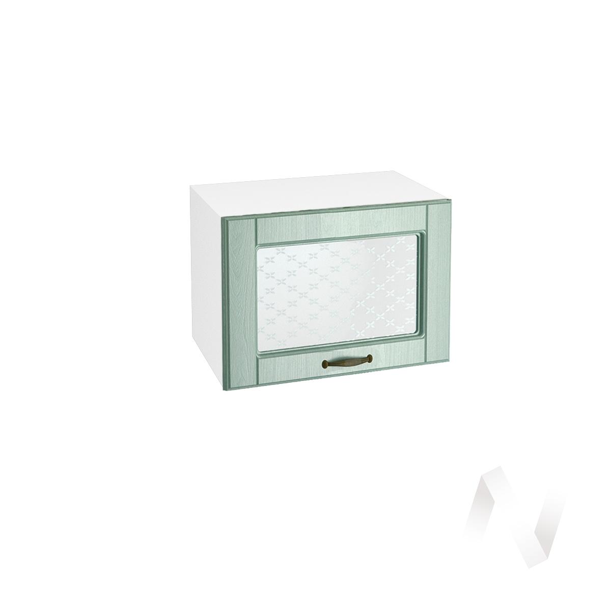 """Купить кухня """"прованс"""": шкаф верхний горизонтальный со стеклом 500, швгс 500 (корпус белый) в Новосибирске в интернет-магазине Мебель плюс Техника"""