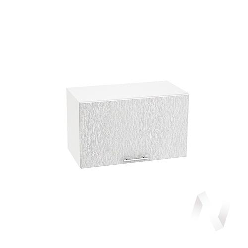 """Кухня """"Валерия-М"""": Шкаф верхний горизонтальный 600, ШВГ 600 (дождь серый/корпус белый)"""