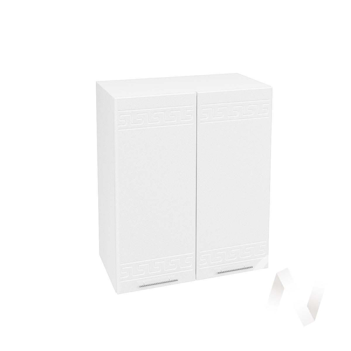 """Кухня """"Греция"""": Шкаф верхний 600, ШВ 600 (белый металлик/корпус белый)"""