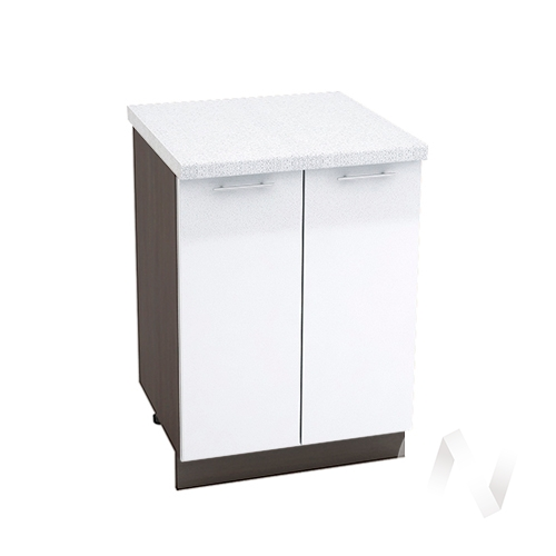 "Кухня ""Валерия-М"": Шкаф нижний 600, ШН 600 (белый металлик/корпус венге)"