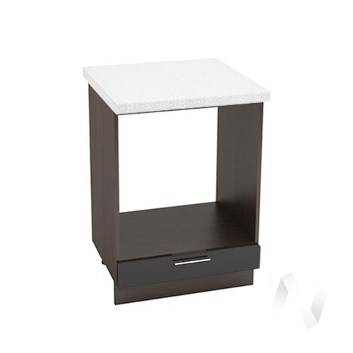 """Кухня """"Валерия-М"""": Шкаф нижний под духовку 600, ШНД 600 (черный металлик/корпус венге)"""