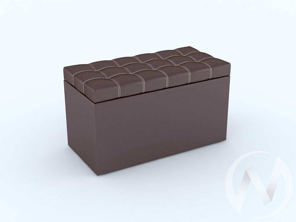 """Пуфик """"Квадро""""  тип 2 (коричневый)  в Томске — интернет магазин МИРА-мебель"""
