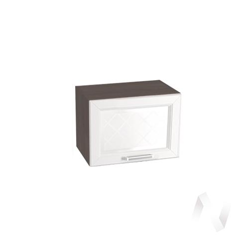 """Кухня """"Вена"""": Шкаф верхний горизонтальный со стеклом 500, ШВГС 500 (корпус венге)"""