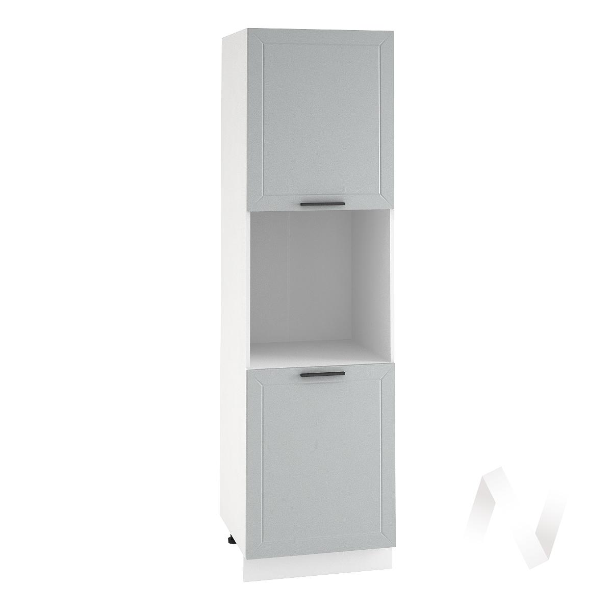 "Кухня ""Глетчер"": Шкаф пенал 600, ШП 600 (Гейнсборо Силк/корпус белый)"