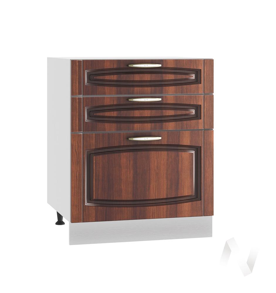 """Кухня """"Неаполь"""": Шкаф нижний с 3-мя ящиками 600, ШН3Я 600 (Италия/корпус белый)"""
