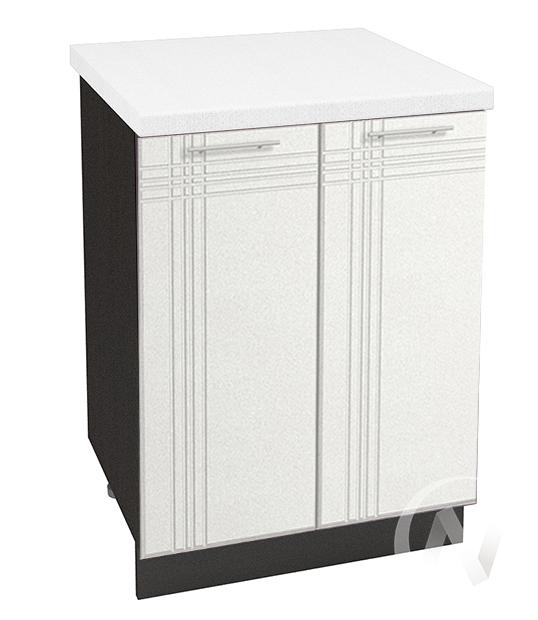 """Кухня """"Струна"""": Шкаф нижний 600, ШН 600 (белый металлик/корпус венге)"""