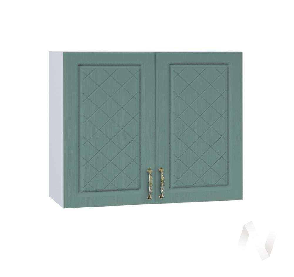 """Кухня """"Селена"""": Шкаф верхний 800, ШВ 800 (Дуб бирюзовый/корпус белый)"""