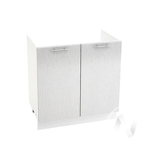 "Кухня ""Валерия-М"": Шкаф нижний под мойку 800, ШНМ 800 (дождь серый/корпус белый)"
