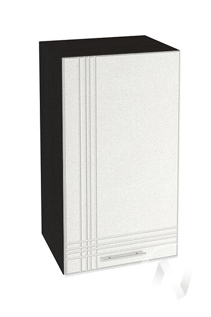 """Кухня """"Струна"""": Шкаф верхний 450, ШВ 450 (белый металлик/корпус венге)"""