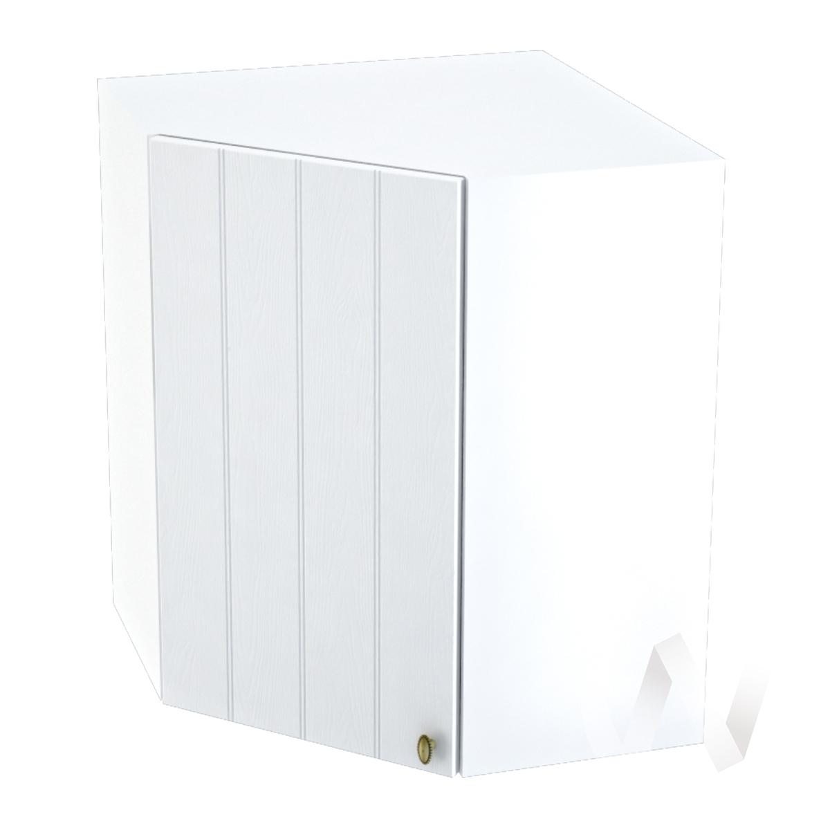 """Кухня """"Прованс"""": Шкаф верхний угловой 590, ШВУ 590 (белое дерево/корпус белый)"""