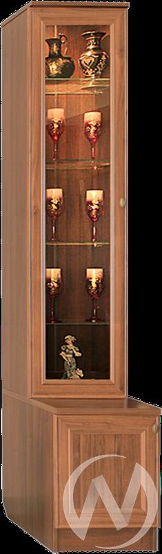 МС Диана Люкс М-8 Пенал со стеклом (орех)