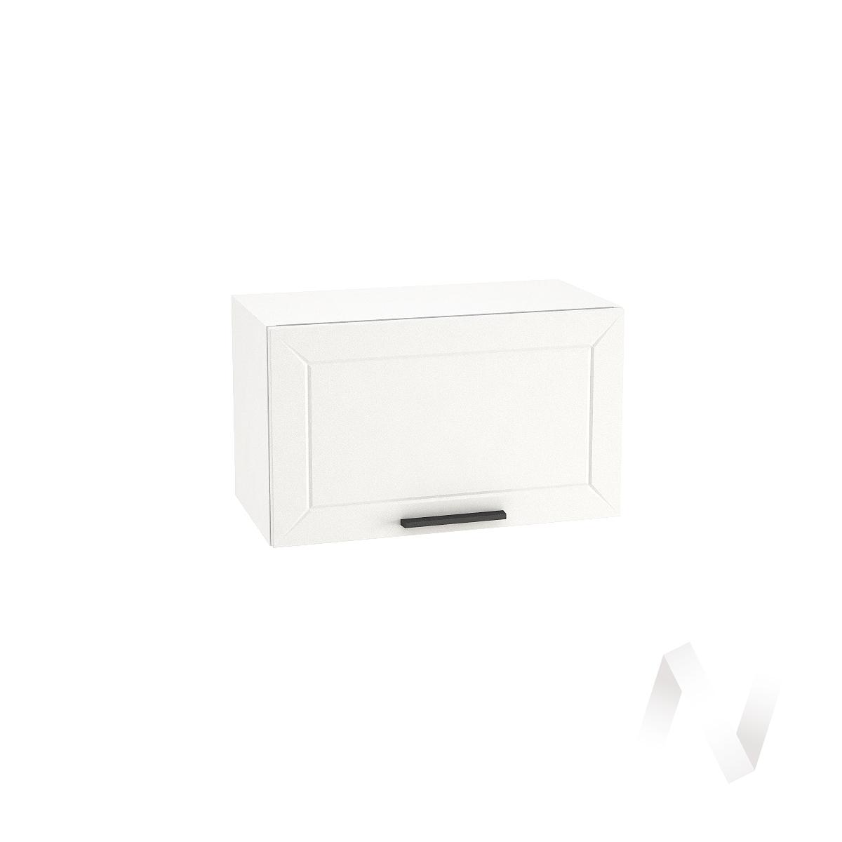 """Кухня """"Глетчер"""": Шкаф верхний горизонтальный 600, ШВГ 600 (Айленд Силк/корпус белый)"""