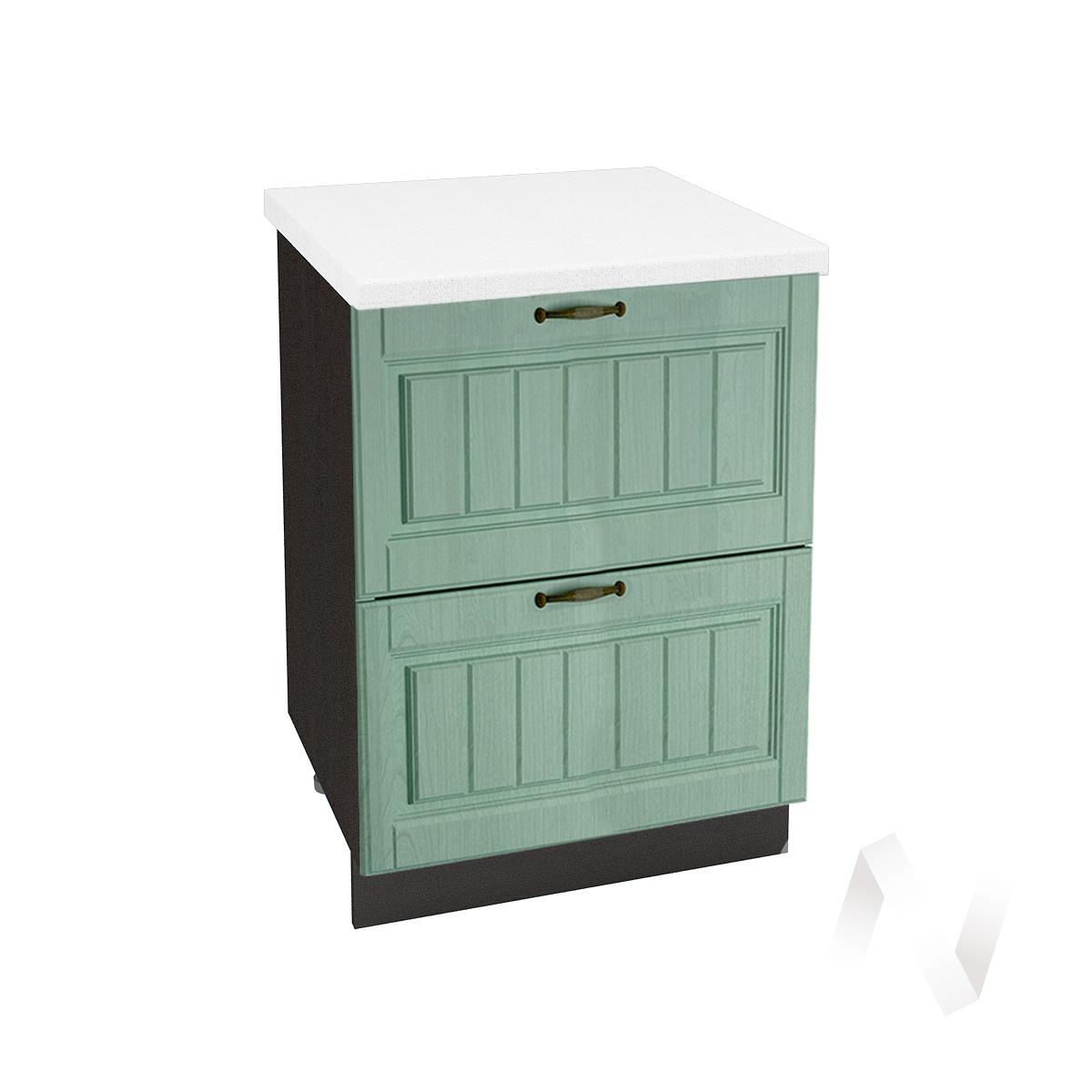 "Кухня ""Прованс"": Шкаф нижний с 2-мя ящиками 600, ШН2Я 600 (корпус венге)"