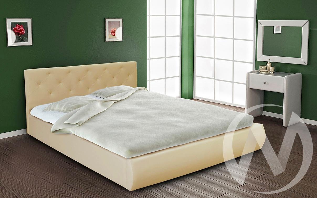 Кровать интерьерная 1,6 с подъемным механизмом (бежевый)