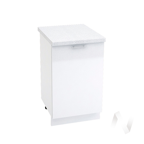 "Кухня ""Валерия-М"": Шкаф нижний 500, ШН 500 (белый металлик/корпус белый)"
