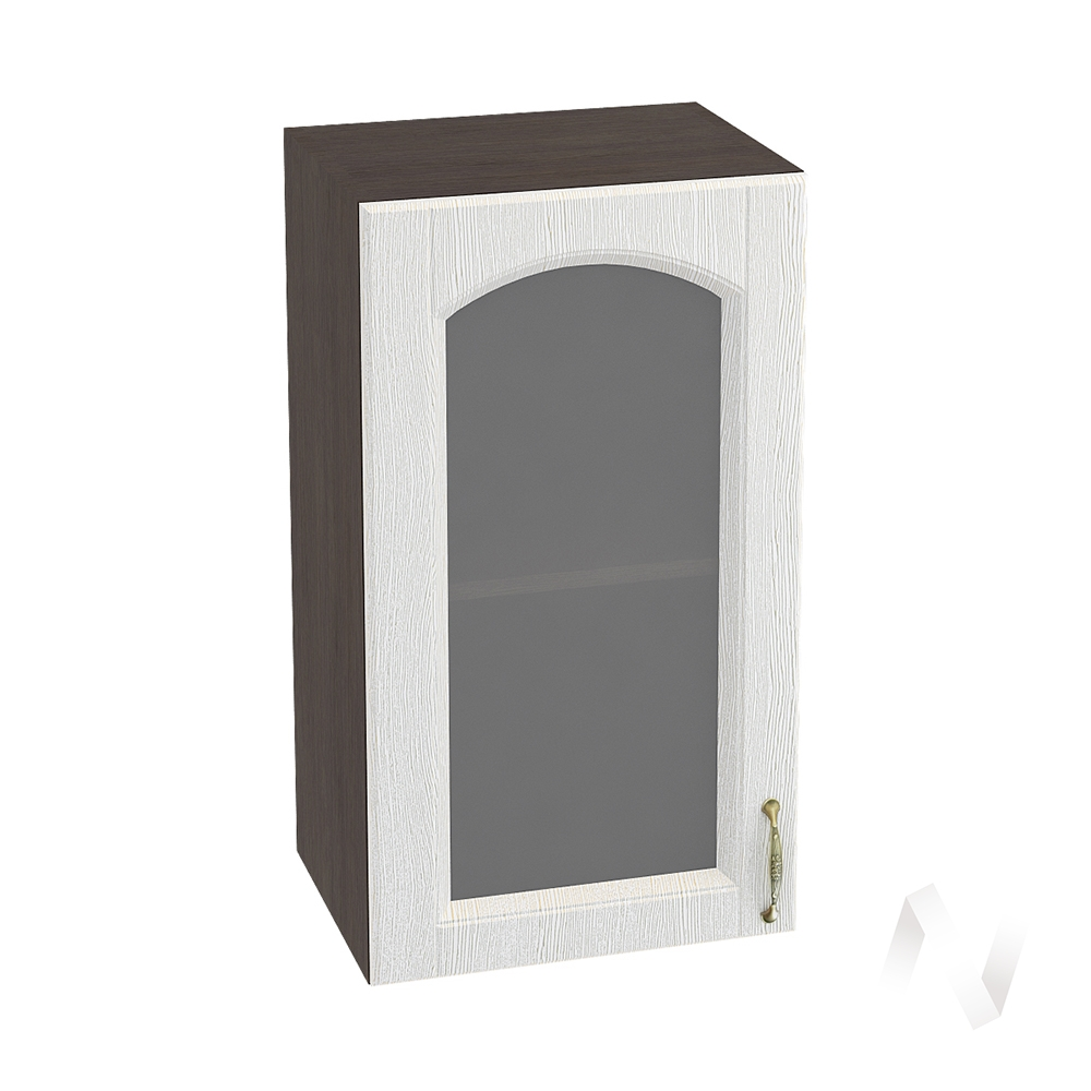 """Кухня """"Верона"""": Шкаф верхний со стеклом 400, ШВС 400 (ясень золотистый/корпус венге)"""
