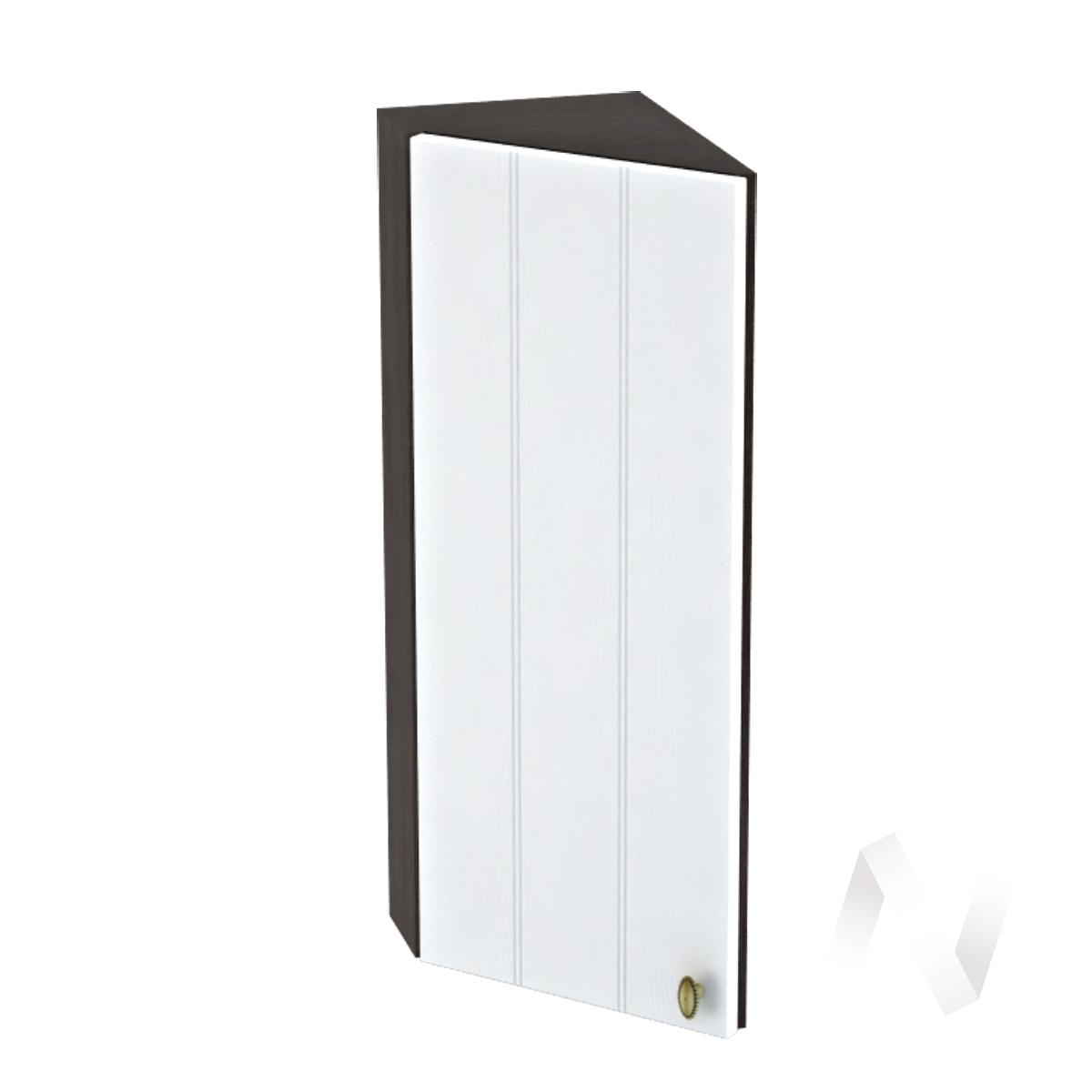 """Кухня """"Прованс"""": Шкаф верхний торцевой 224, ШВТ 224 (белое дерево/корпус венге)"""