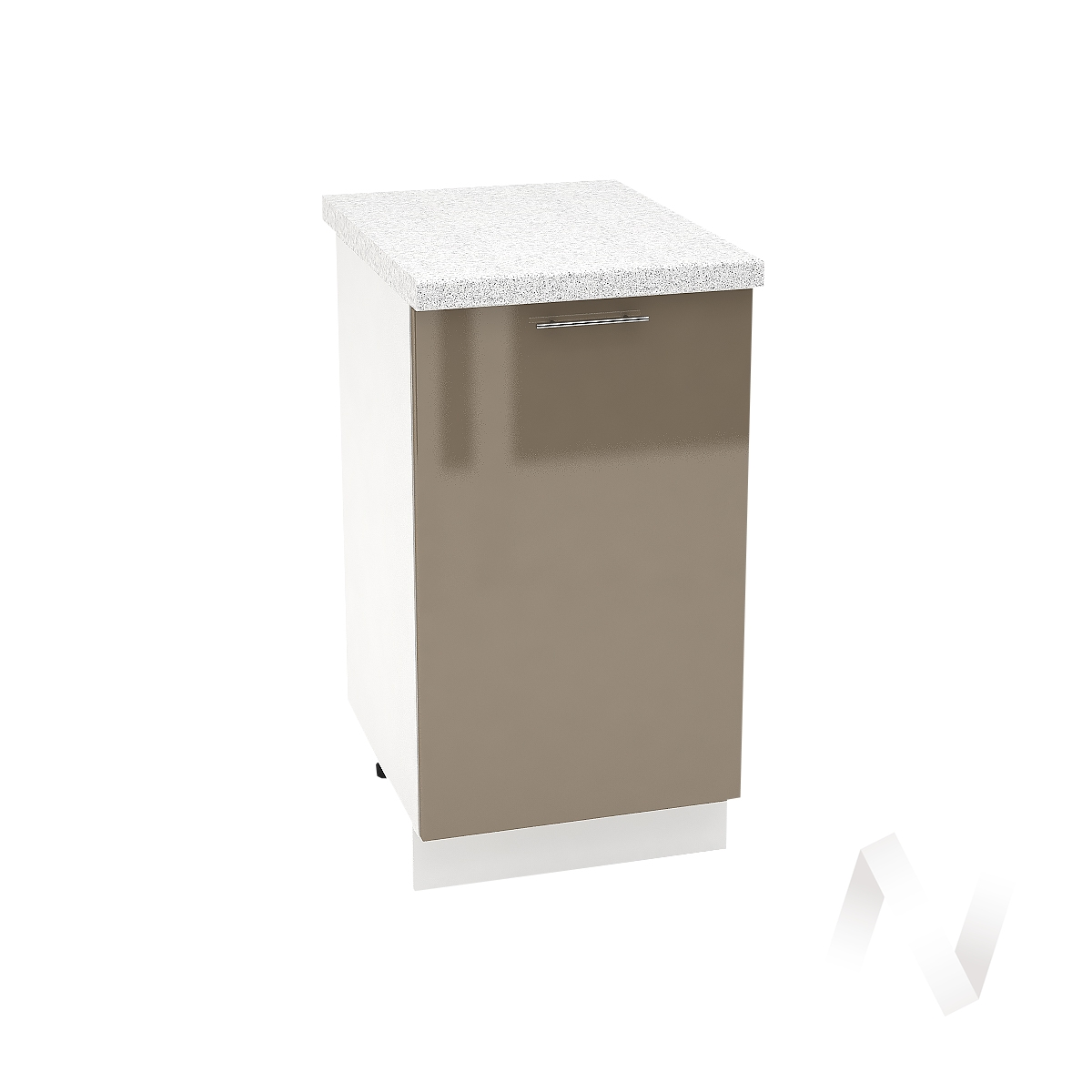 "Кухня ""Валерия-М"": Шкаф нижний 450, ШН 450 (Капучино глянец/корпус белый)"