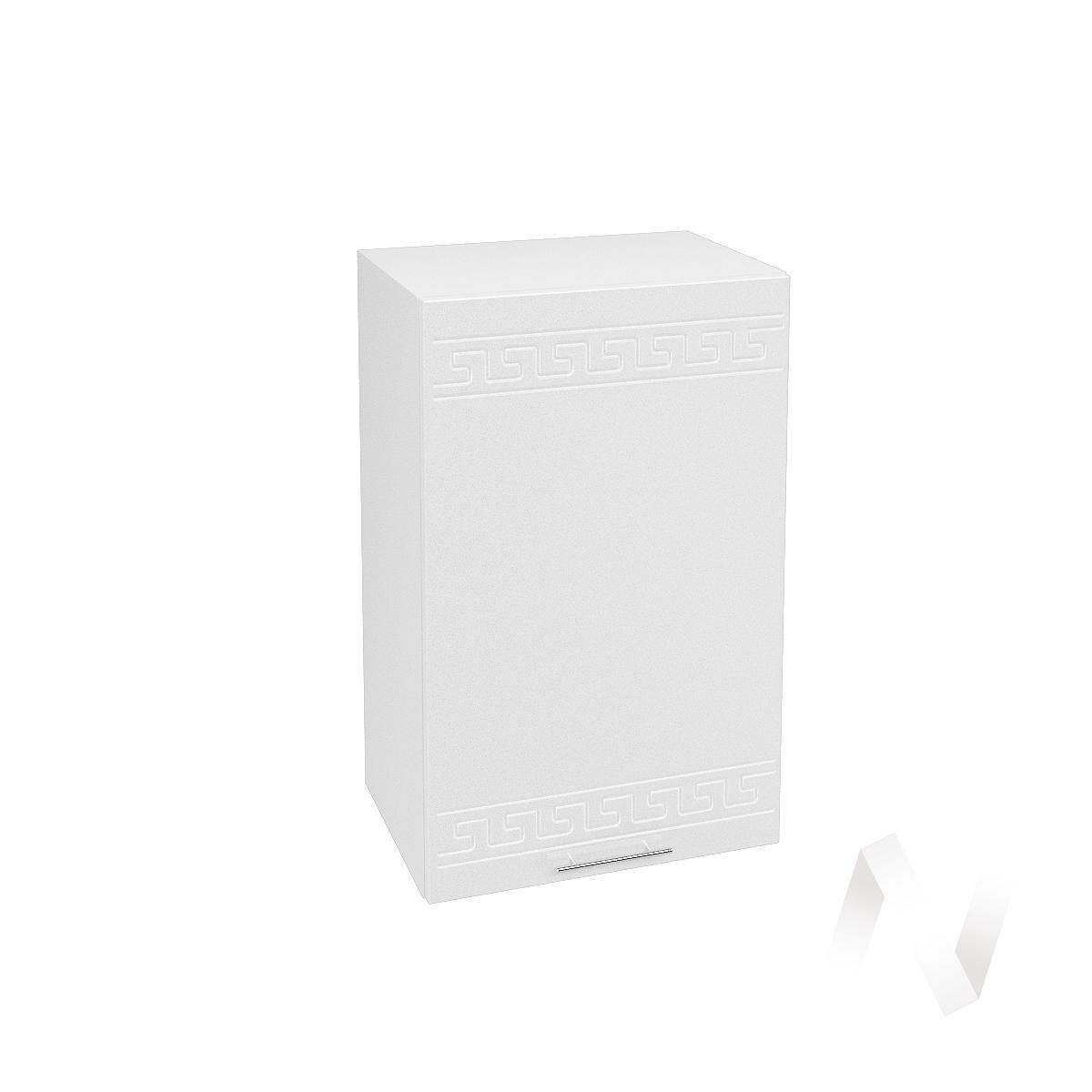 """Кухня """"Греция"""": Шкаф верхний 450, ШВ 450 (белый металлик/корпус белый)"""