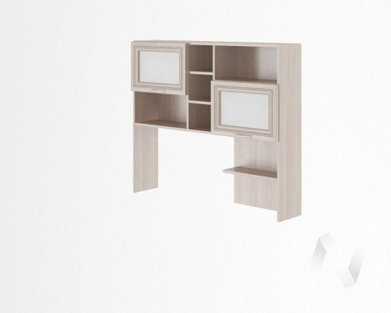 Надстройка стола универсальная Остин М14 (ясень шимо светлый/белый)