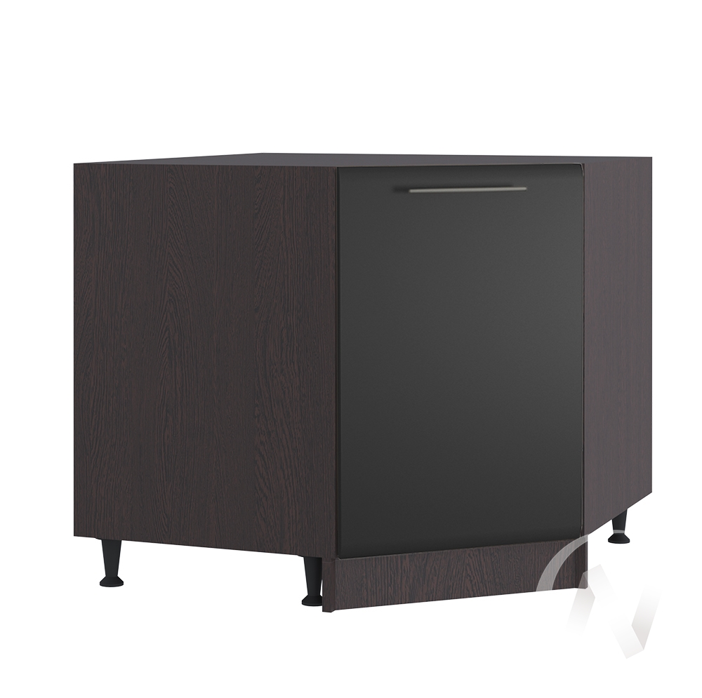 """Кухня """"Люкс"""": Шкаф нижний угловой 890, ШНУ 890 (Шелк венге/корпус венге)"""