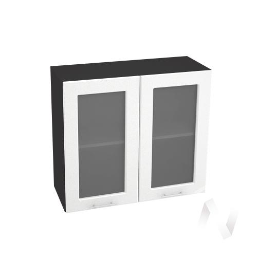 "Кухня ""Вега"": Шкаф верхний со стеклом 800, ШВС 800 (белый металлик/корпус венге)"