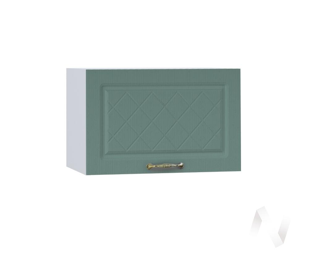 """Кухня """"Селена"""": Шкаф верхний горизонтальный 500, ШВГ 500 (Дуб бирюзовый/корпус белый)"""