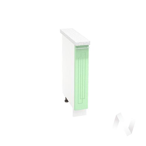 "Кухня ""Вега"": Шкаф нижний бутылочница 150, ШНБ 150 (салатовый металлик/корпус белый)"