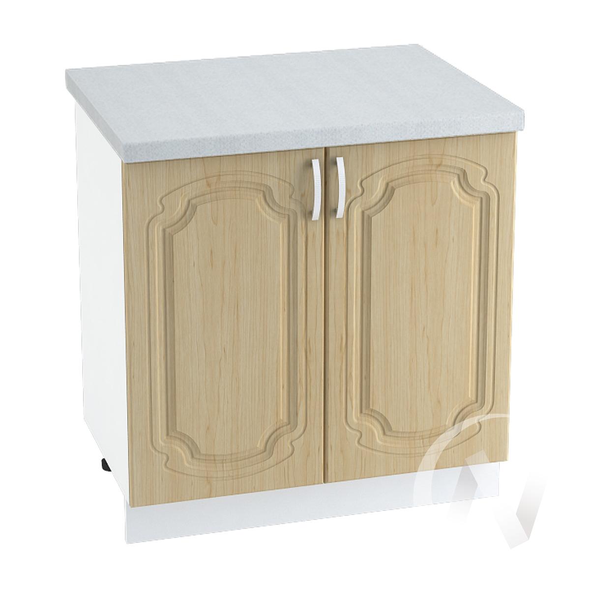 "Кухня ""Настя"": Шкаф нижний 800, ШН 800 (Береза/корпус белый)"