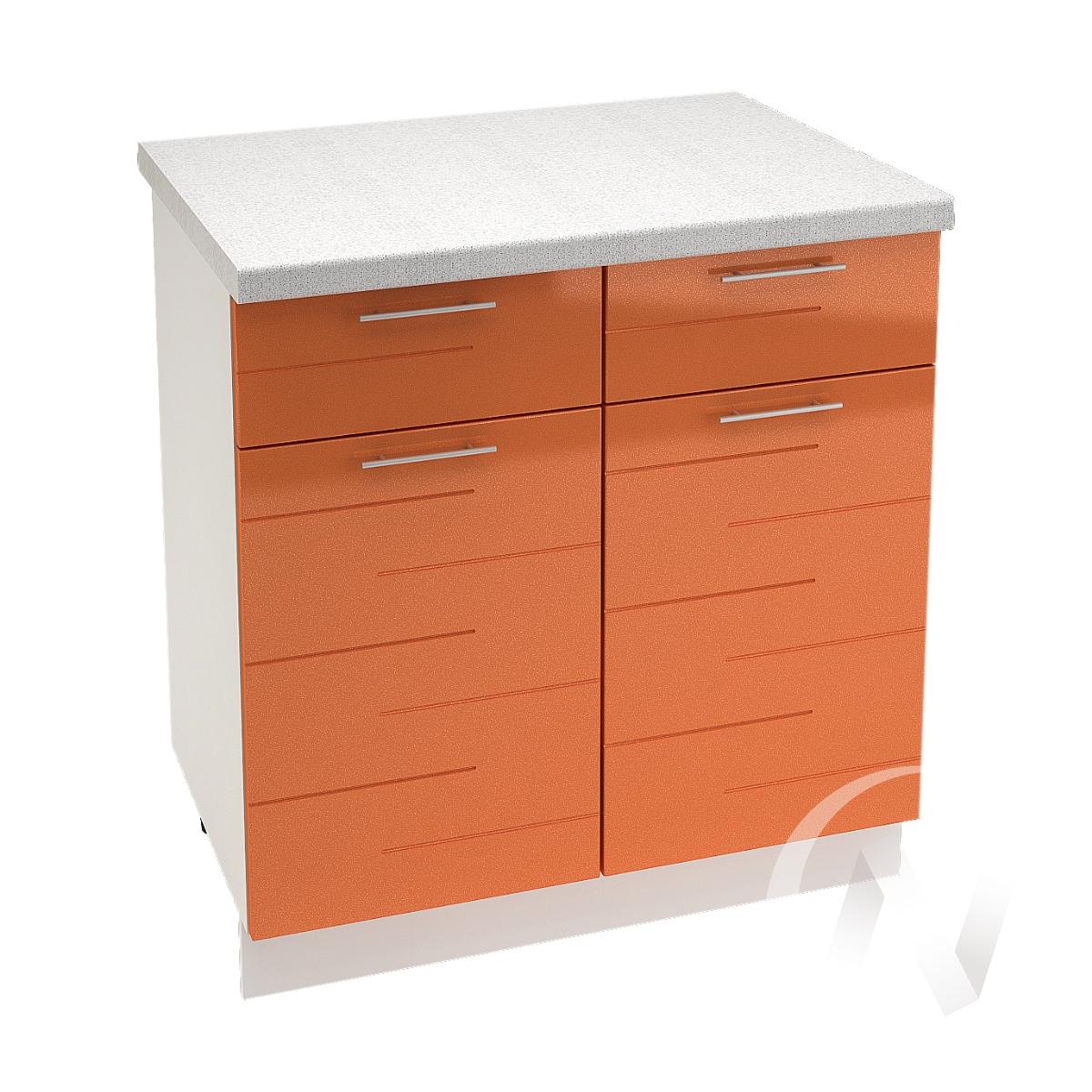 "Кухня ""Техно"": Шкаф нижний с ящиками 800, ШН1Я 800 (корпус белый)"