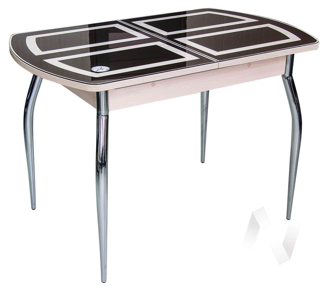 Стол раздвижной Asti-01 (дуб/стекло темное оракал 080)  в Томске — интернет магазин МИРА-мебель