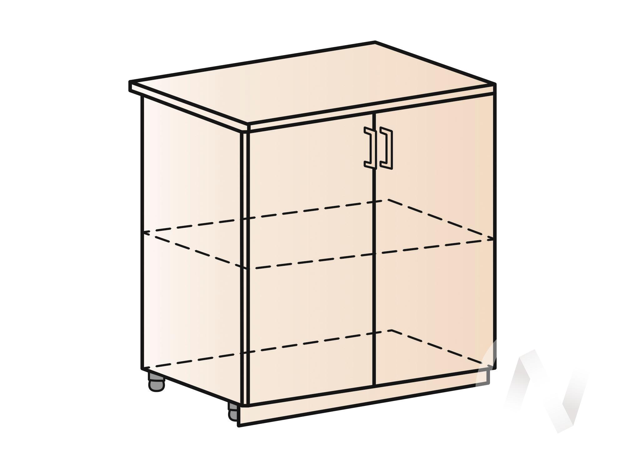 """Кухня """"Люкс"""": Шкаф нижний 800, ШН 800 (Шелк венге/корпус белый) в Новосибирске в интернет-магазине мебели kuhnya54.ru"""