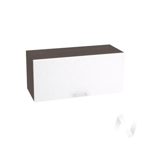 """Кухня """"Валерия-М"""": Шкаф верхний горизонтальный 800, ШВГ 800 (белый металлик/корпус венге)"""
