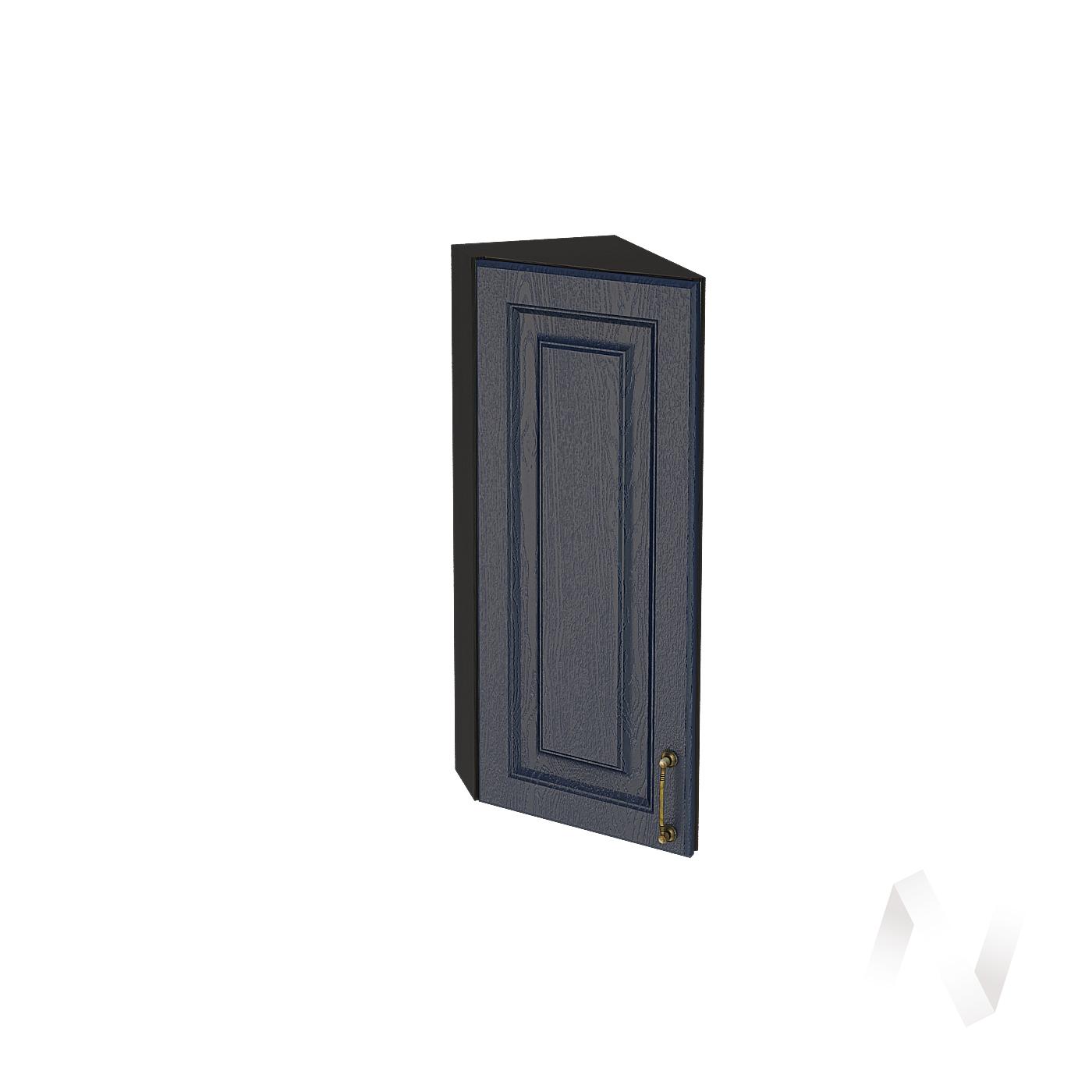 """Кухня """"Ницца"""": Шкаф верхний торцевой 224, ШВТ 224 (Дуб чернильный/корпус венге)"""
