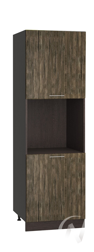 "Кухня ""Норден"": Шкаф пенал 600, ШП 600 (старое дерево/корпус венге)"