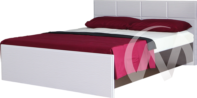 Палермо Кровать 1,4 (венге-белый дым)