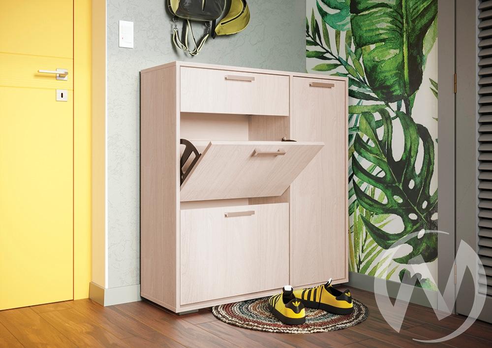 Обувница Дели-4 (шимо светлый/шимо светлый)  в Томске — интернет магазин МИРА-мебель