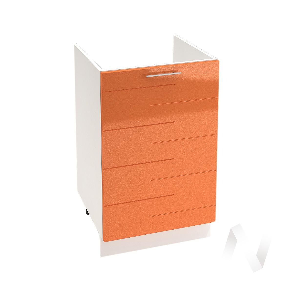 """Кухня """"Техно"""": Шкаф нижний под мойку 500, ШНМ 500 (корпус белый)"""